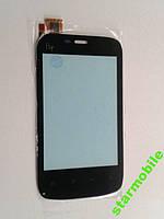 Сенсорный экран для Fly E154, чёрный, high copy