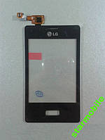 Сенсорный экран  LG E400/L3, черный, ORIG