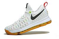 Мужские баскетбольные кроссовки Nike KD 9 (White/Multicolor), фото 1