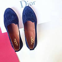 Стильные женские комфортные туфли- лоферы от TroisRois  из натурального турецкого замша