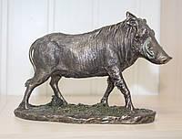 Красивая статуэтка Veronese Дикий кабан с бронзовым покрытием 76638A4