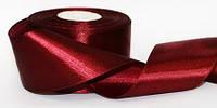 Атласная лента, ширина 48 мм, 23 м, цвет бордовый