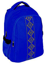 "Рюкзак 17"" для школы Vyshyvanka Cool for school CF85678 синий"