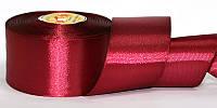 Атласная лента, ширина 5 см, 1 м, цвет карминовый