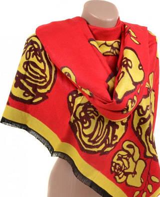 Шикарный женский кашемировый палантин размером 70*200 см Подиум 32061 red (красный)