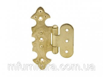 Петля накладная декоративная(ФИГУРНАЯ) золото G-330 накл, (шт.)