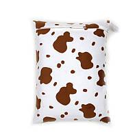 Стильные велюровые сумочки  буренка топленое молоко