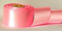 Атласная лента, ширина 5 см, 1 м, цвет розовый