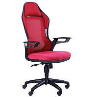 Кресло Racer сетка красная/каркас черный