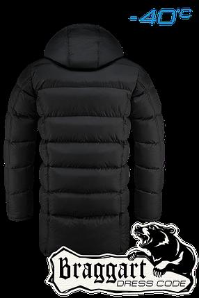 Мужская черная удлиненная зимняя куртка Braggart арт. 2762, фото 2