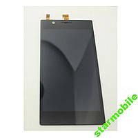 Дисплей для мобильного телефона Lenovo K900, черный, с тачскрином, ORIG
