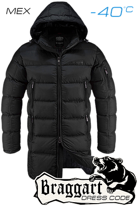 Мужская теплая удлиненная зимняя куртка Braggart арт. 2762, фото 2
