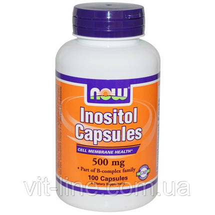 Now Foods, Инозитол Капсулы (Inositol Capsules), 500 мг, 100 капсул, фото 2