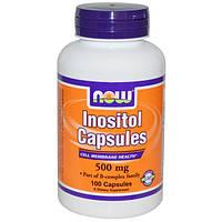 Inositol от Now Foods. Инозитол-для зрения, нервной и репродуктивной систем. 500мг. 100 капсул