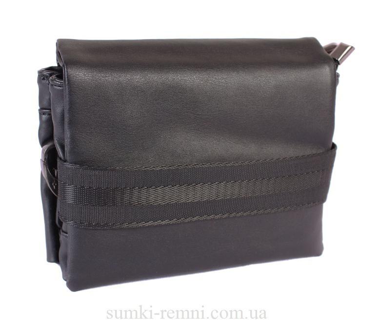 Мужская сумка из искусственной кожи E30904 Черная
