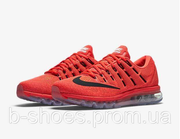Мужские кроссовки Nike Air Max 2016 (Bright Crimson/Black)