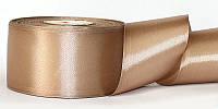 Атласная лента, ширина 5 см, 1 м, цвет какао светлый