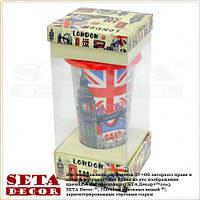 Термостакан (термокружка, чашка) Лондон с силиконовой крышкой в подарочной упаковке