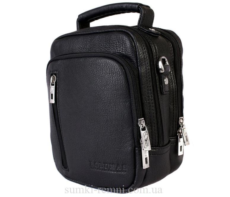 Мужская сумка из искусственной кожи E30907 Черная