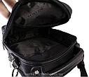 Мужская сумка из искусственной кожи E30907 Черная, фото 7