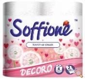 Туалетная бумага Soffione Decoro розовый
