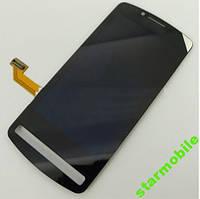 Дисплей Nokia 700, черный, с тачскрином