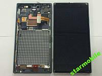 Дисплей Nokia 830 Lumia, черный+сенсор+рамка