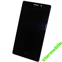 Дисплей для мобильного телефона Nokia 925 Lumia, черный, с сенсорным экран