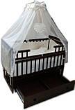 """Акция! Комплект для сна """"Элит"""". Кроватка маятник + ящик + матрас Люкс + постельный набор 8 эл. + держатель, фото 2"""
