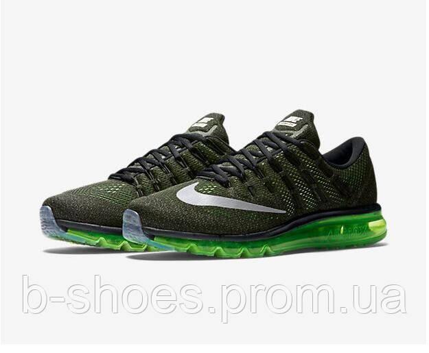 Мужские кроссовки Nike Air Max 2016 (Dark Green/Black)
