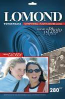 Фотобумага Lomond Super - Glossy ( формат А3 , плотность 280 г/м2 односторонняя супер-глянцевая ) 20 листов