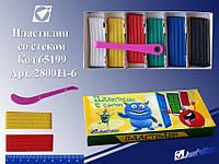 """Пластилин 280011-6 """"Монстрики"""" 6 цв. в картонной упаковке со стеком"""