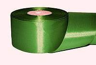 Атласная лента, ширина 5 см, 1 м, цвет оливковый