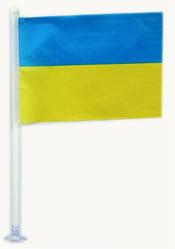 Флажок Украины 15х10 см, с резиновой присоской