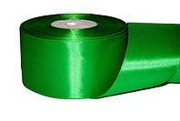 Атласная лента, ширина 5 см, 1 м, цвет зеленый