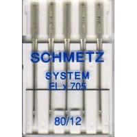 Иглы Schmetz  для оверлоков и плоскошовных машин №80