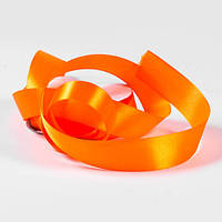 Атласная лента, ширина 5 см, 1 м, цвет оранжевый