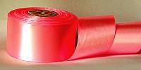 Атласная лента, ширина 5 см, 1 м, цвет ярко-розовый