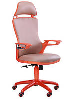 Кресло Boomer к/з хаки/каркас оранжевый