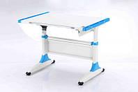 Детская парта растишка стол трансформер Goodwin К1 blue (Comf-Pro) без ящика