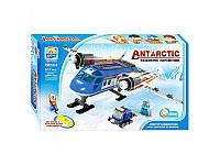 Конструктор Qiaoletong Арктика, самолет, снегоход, фигурки, 511дет, TS8107A