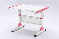 Детская парта растишка стол трансформер Goodwin К1 pink (Comf-Pro) без ящика