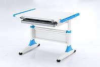 Комплект Детская парта растишка стол трансформер Goodwin K-1 Blue (Comf-Pro) с ящиком и кресло KY-639
