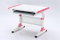 Комплект Детская парта растишка стол трансформер Goodwin K-1 Pink (Comf-Pro) с ящиком и кресло KY-639