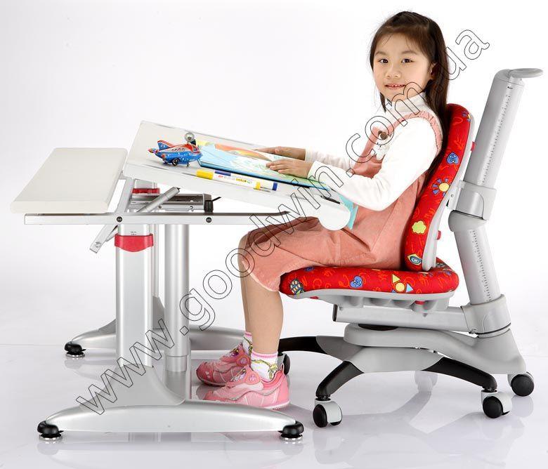 Комплект Дитяча парта растишка стіл трансформер Goodwin KD-338WB (Comf-Pro) і крісло KY-318