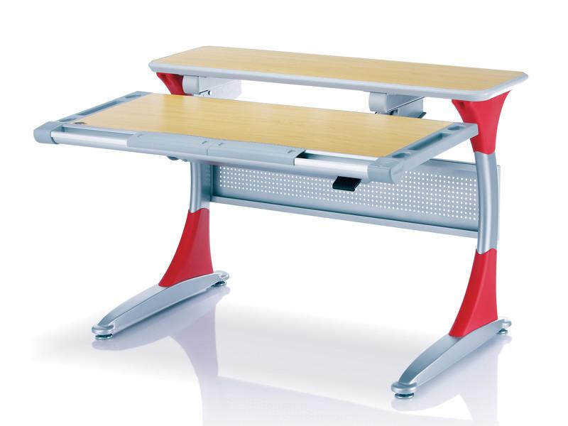 Комплект Дитяча парта растишка стіл трансформер Goodwin HARVARD KD-333 (Comf-Pro) з червоними вставками і