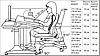 Комплект Дитяча парта растишка стіл трансформер Goodwin HARVARD KD-333 (Comf-Pro) з червоними вставками і, фото 3