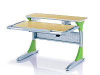 Комплект Детская парта растишка стол трансформер Goodwin KD-333 (Comf-Pro) с кабинетом с красными вставками и кресло KY-618 красное жуки