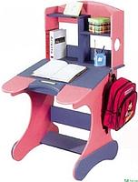 Комплект Детская парта растишка стол трансформер Goodwin KD-318 (SUN) синий с розовым и стул КДН04 синий