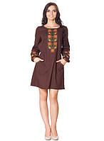 Платье-вышиванка с карманами